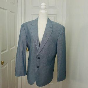 JOS.A.BANK Blue/Gray Blazer Jacket (40S)
